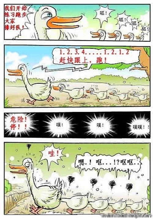 鸭子练习跑步